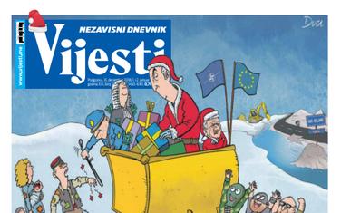 "Naslovna strana ""Vijesti"" za 31. decembar, prvi i drugi januar"