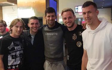 Luka Modrić, Mateo Kovačić, Novak Đoković, Ivan Rakitić i Ivan Perišić