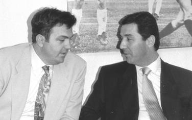 """""""Momci iz devedesetih"""": Fotografija Kneževića i Đukanovića koju je tim opisom predsjednik Atlas grupe postavio na Instagramu"""
