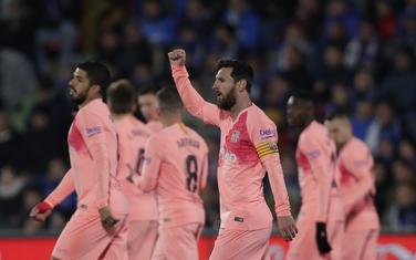 Leo Mesi slavi gol protiv Hetafea
