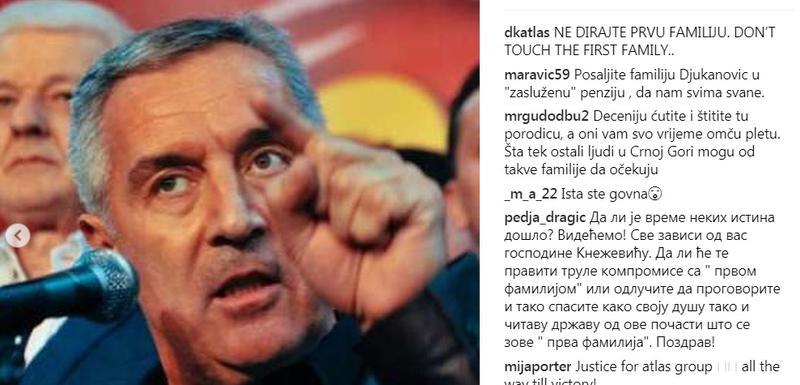 Objava Duška Kneževića na Instagramu
