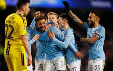 Fudbaleri Mančester sitija slave gol protiv Bartona