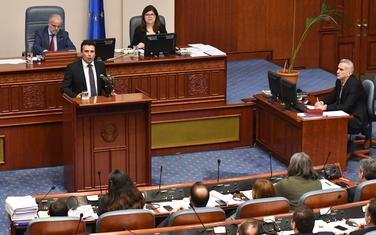 Zaev u parlamentu