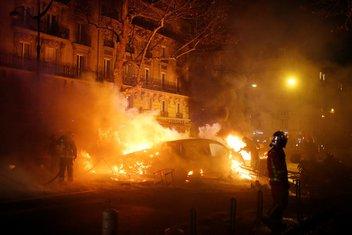 pariz protest, žuti panciri