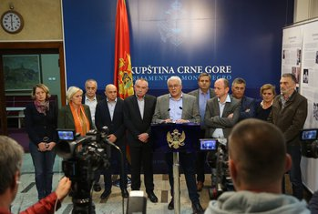 Demokratski front, DF,  Andrija Mandić, Milan Knežević, Branko Radulović