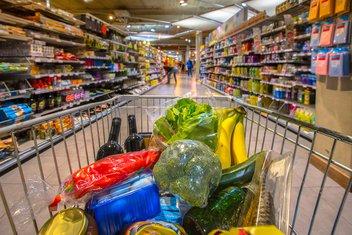 potrošačka korpa, supermarket, kupovina