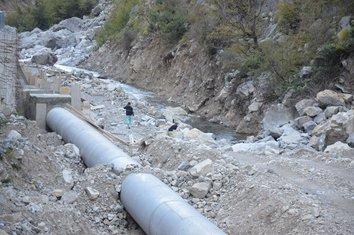 Cijevna, cijev, Albanija, mini hidroelektrana