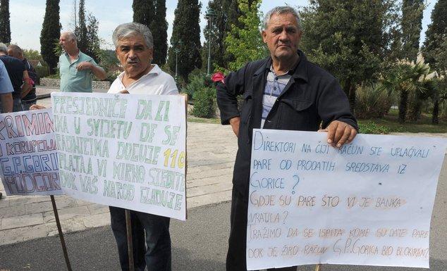 Gorica, protest