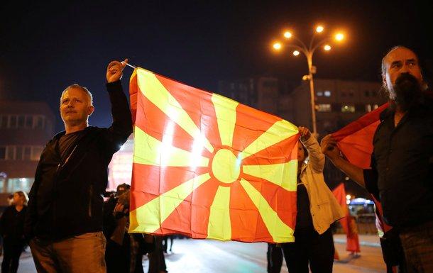 Makedonija, pristalice bojkota referenduma