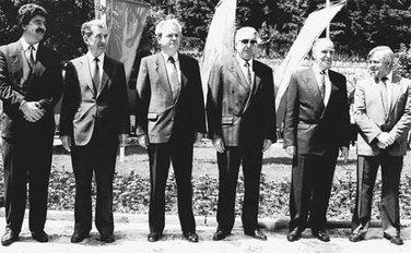 Franjo Tuđman, Momir Bulatović, Slobodan Milošević