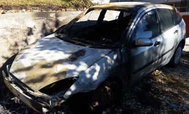 Miroslav Drobnjak, zapaljen automobil