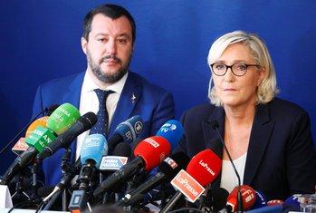 Mateo Salvini, Marin le Pen