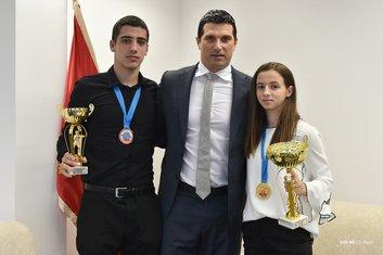 Petar Liješević, Nikola Janović i Bojana Gojković