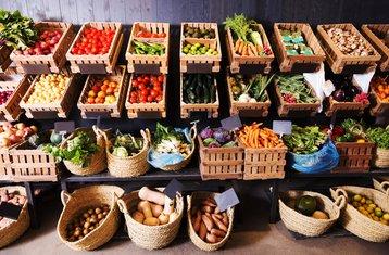 voće povrće, tezga