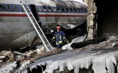 Sa mjesta pada aviona