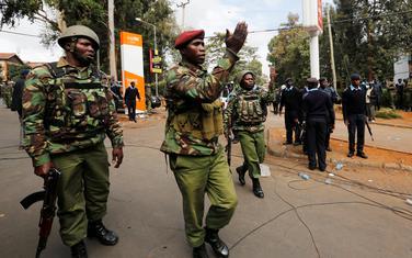 Kenijska policija na mjestu napada