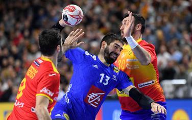 Nikola Karabatić na utakmici sa Španijom