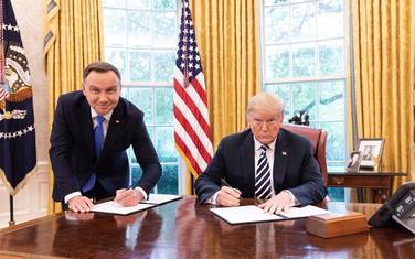 Poljski predsjednik Andžej Duda sa Trampom u Bijeloj kući u septembru 2018