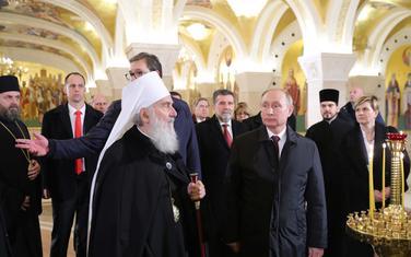 Irinej sa predsjednicima Srbije i Rusije