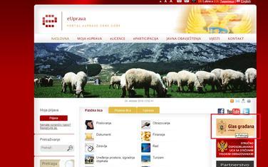 Do portala e-peticije se moglo doći preko sajta euprava.me