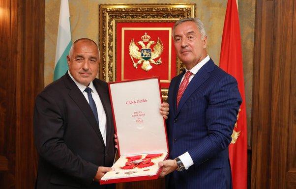 Bojko Borisov, Milo Đukanović