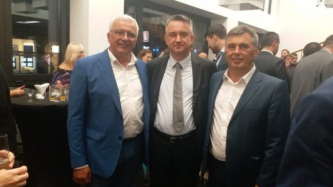 Andrija Mandić, Darko Mladić, Milutin Đukanović