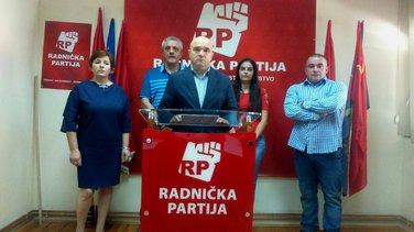 Janko Vučinić, Željka Savković, Radnička partija