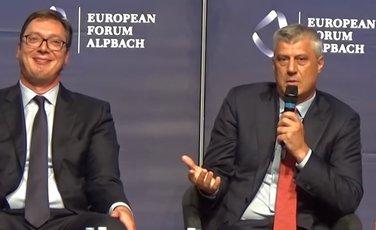 Aleksandar Vučić, Hašim Tači