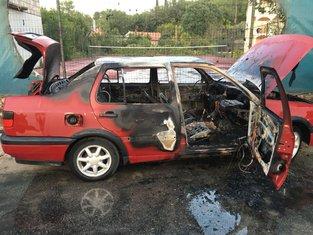 auto požar, Radovići