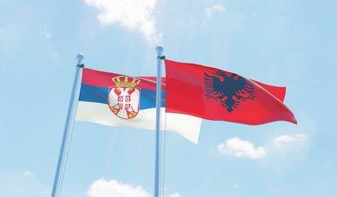 Srbija, Albanija, zastava