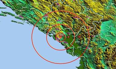 Zemljotres Očinići