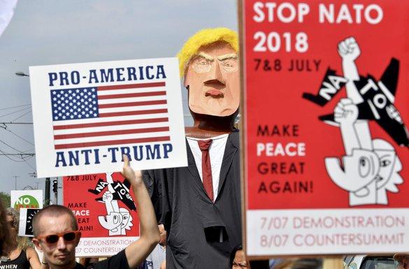 Protest Tramp, Brisel