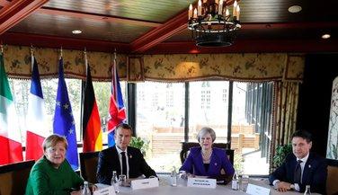 Angela Merkel, Emanuel Makron, Tereza  Mej, Đuzepe Konte