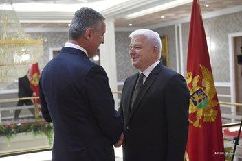 Novogodišnji prijem, Duško Marković, Milo Đukanović