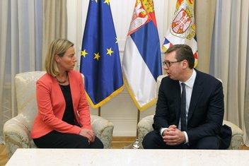 Federika Mogerini, Aleksandar Vučić
