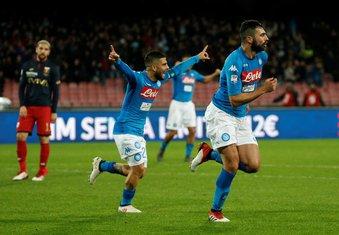 Lorenco Insinje Raul Albiol Napoli