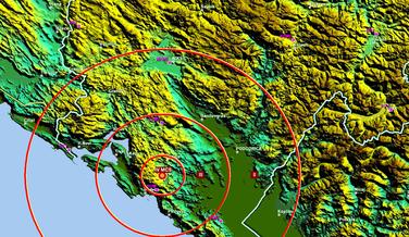 Zemljotres Cetinje, Zemljotres Očinići