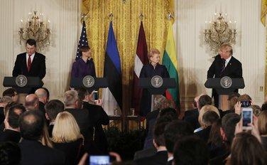 Donald Tramp, predsjednici baltičkih zemalja