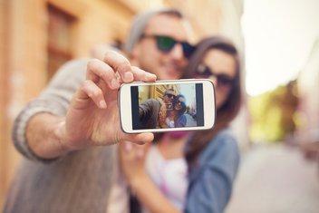 par, telefon, selfi