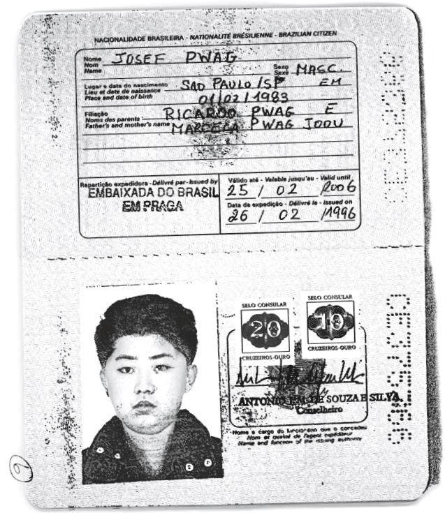 Kim Džong un, pasoš