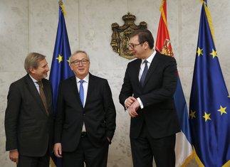 Johanes Han, Žan Klod Junker, Aleksandar Vučić