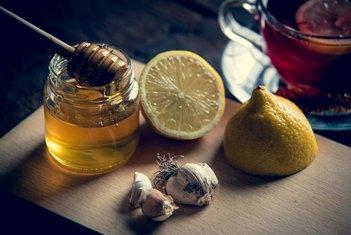 limun, med, bijeli luk