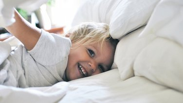posteljina, krevet, dijete