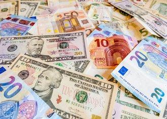 Euro, dolar, novac, pare