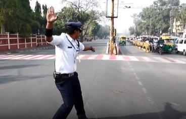 Saobraćajni policajac, Indija