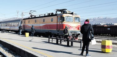 Željeznička stanica Podgorica voz