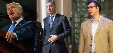 Donald Tramp, Milo Đukanović, Aleksandar Vučić
