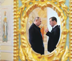 Vladimir Putin, Dmitrij Medvedev