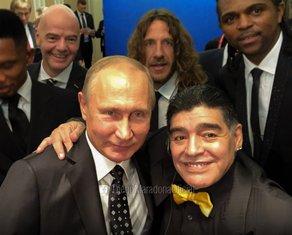 Valdimir Putin, Dijego Maradona
