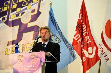 Unija slobodnih sindikata Kongres, Srđa Keković